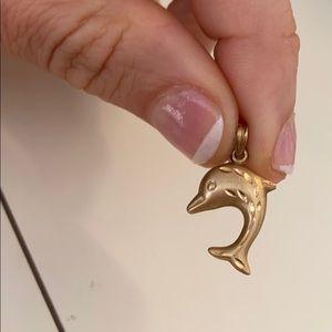Vintage pure 14k gold nautical pendant